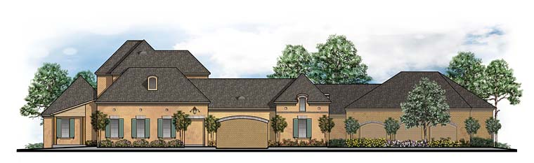 Southern, Traditional House Plan 41596 with 4 Beds, 6 Baths, 6 Car Garage Elevation