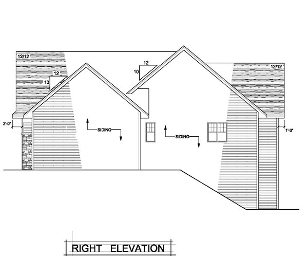 Craftsman, One-Story, Traditional, Tudor House Plan 42101 with 3 Beds, 2 Baths, 3 Car Garage Picture 2
