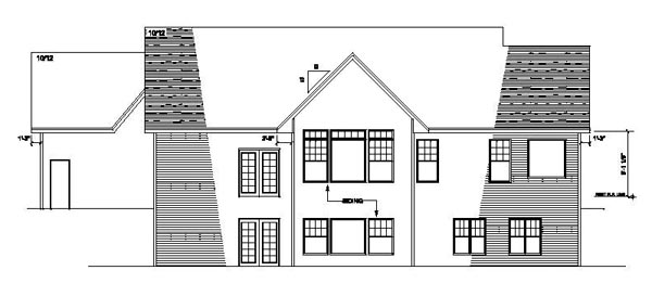Craftsman, One-Story, Traditional, Tudor House Plan 42101 with 3 Beds, 2 Baths, 3 Car Garage Rear Elevation