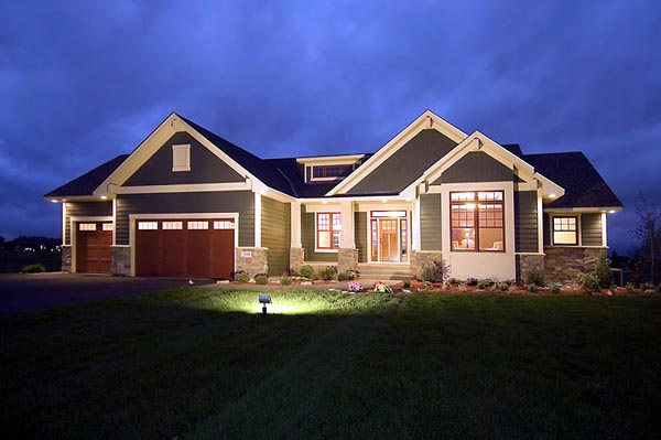 Craftsman, Traditional House Plan 42505 with 2 Beds, 2 Baths, 3 Car Garage Elevation