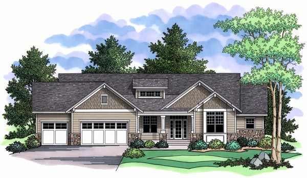 Craftsman, Traditional House Plan 42505 with 2 Beds, 2 Baths, 3 Car Garage Picture 9