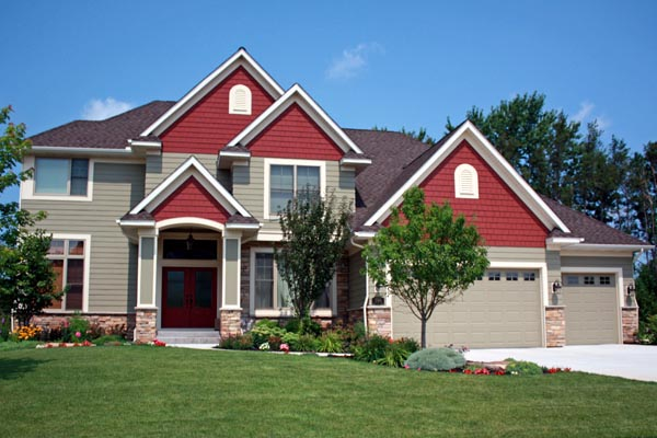 Traditional House Plan 42583 with 4 Beds, 4 Baths, 3 Car Garage Elevation
