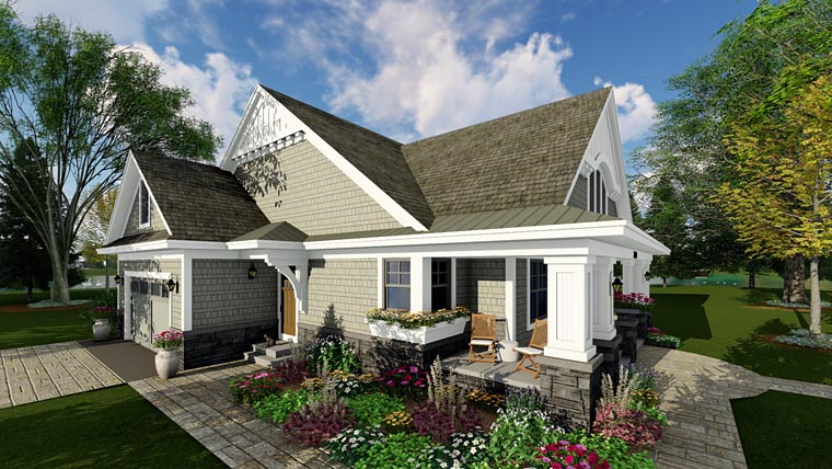 Bungalow, Cottage, Craftsman, Traditional House Plan 42618 with 3 Beds, 2 Baths, 2 Car Garage Picture 2