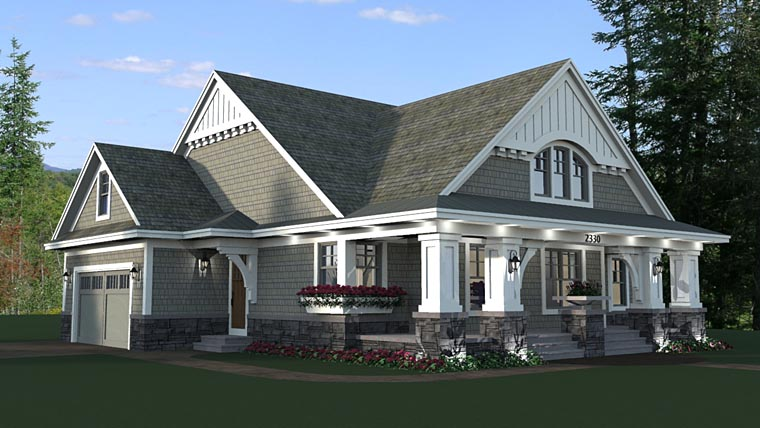 Bungalow, Cottage, Craftsman, Traditional House Plan 42618 with 3 Beds, 2 Baths, 2 Car Garage Picture 4