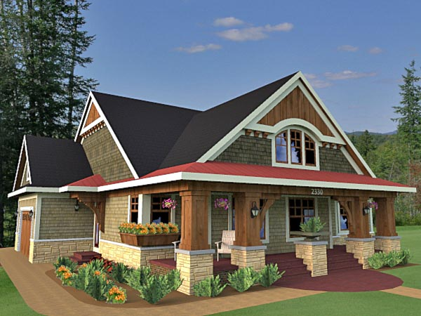 Bungalow, Cottage, Craftsman, Traditional House Plan 42618 with 3 Beds, 2 Baths, 2 Car Garage Picture 5