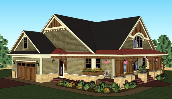 Bungalow, Cottage, Craftsman, Traditional House Plan 42618 with 3 Beds, 2 Baths, 2 Car Garage Picture 6