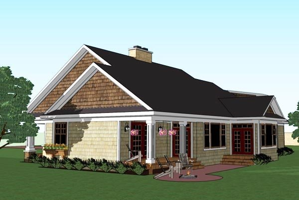 Craftsman, Traditional House Plan 42619 with 3 Beds, 3 Baths, 2 Car Garage Picture 3