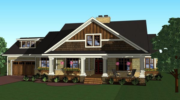 Craftsman, Traditional House Plan 42619 with 3 Beds, 3 Baths, 2 Car Garage Picture 4