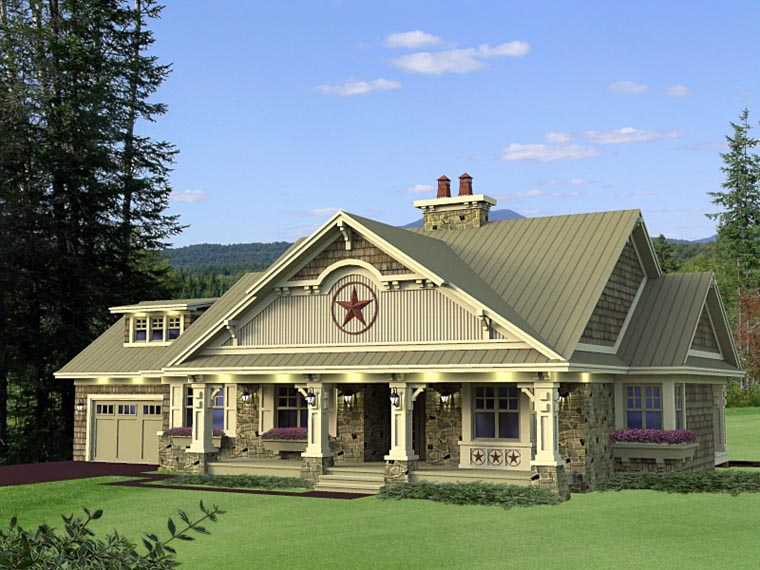 Craftsman, Traditional House Plan 42619 with 3 Beds, 3 Baths, 2 Car Garage Picture 5