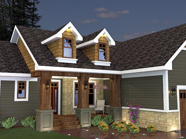Craftsman House Plan 42624 with 3 Beds, 2 Baths, 2 Car Garage Picture 6
