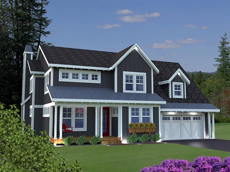 House Plan 42628 with 3 Beds, 4 Baths, 3 Car Garage Elevation
