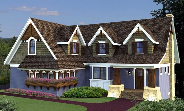 House Plan 42647 with 4 Beds, 4 Baths, 3 Car Garage Front Elevation
