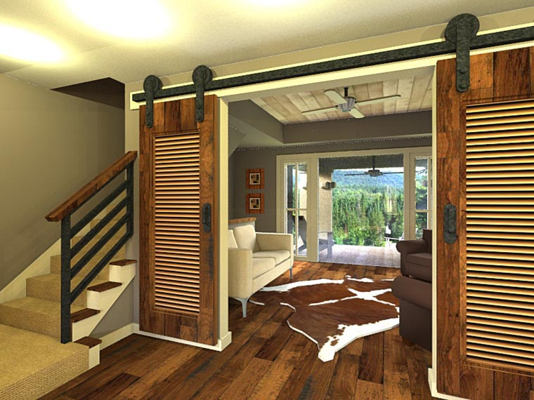 Craftsman House Plan 42653 with 3 Beds, 3 Baths, 2 Car Garage Picture 2