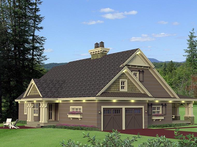 Craftsman House Plan 42653 with 3 Beds, 3 Baths, 2 Car Garage Picture 7