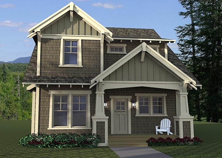 Cottage, Craftsman, Traditional House Plan 42673 with 3 Beds, 3 Baths Front Elevation