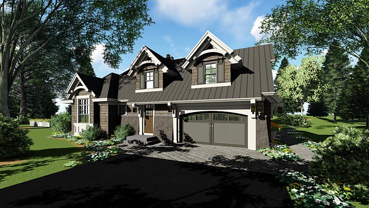 Bungalow, Cottage, Craftsman, French Country, Tudor House Plan 42676 with 4 Beds, 3 Baths, 2 Car Garage Picture 2