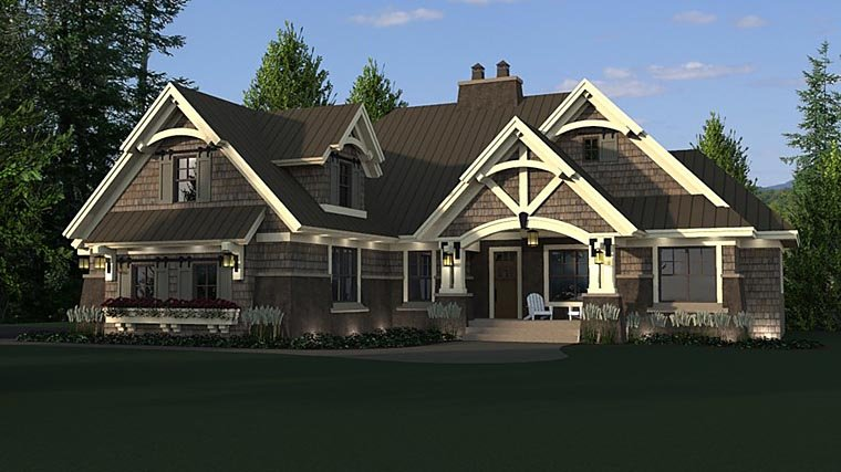 Bungalow, Cottage, Craftsman, French Country, Tudor House Plan 42676 with 4 Beds, 3 Baths, 2 Car Garage Picture 4