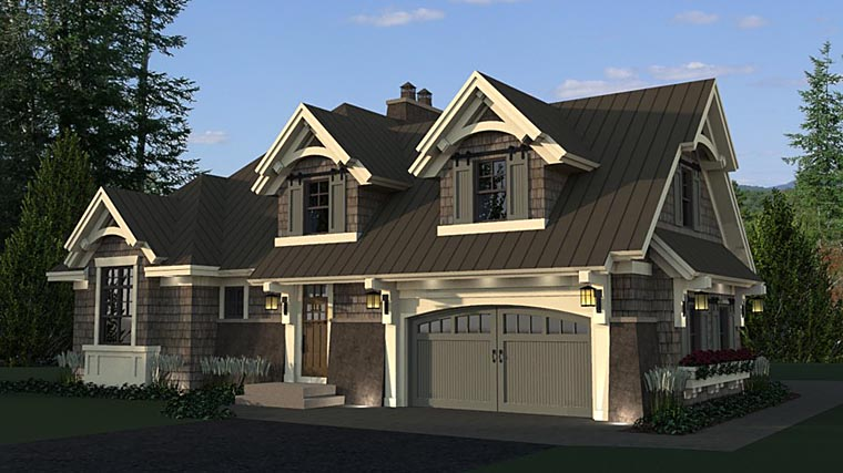 Bungalow, Cottage, Craftsman, French Country, Tudor House Plan 42676 with 4 Beds, 3 Baths, 2 Car Garage Picture 5