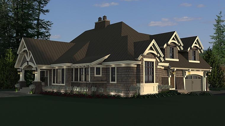 Bungalow, Cottage, Craftsman, French Country, Tudor House Plan 42676 with 4 Beds, 3 Baths, 2 Car Garage Picture 6