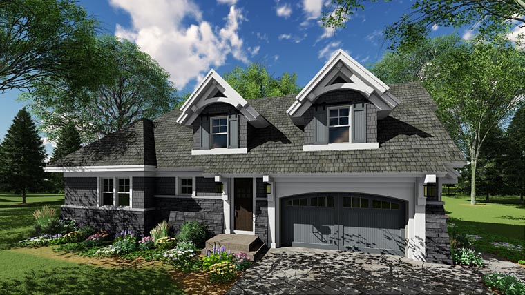 Bungalow, Cottage, Country, Craftsman, Tudor House Plan 42680 with 3 Beds, 3 Baths, 2 Car Garage Picture 3