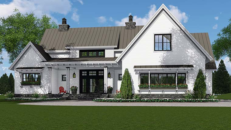 Country, Farmhouse, Southern, Traditional House Plan 42688 with 3 Beds, 3 Baths, 2 Car Garage Picture 3