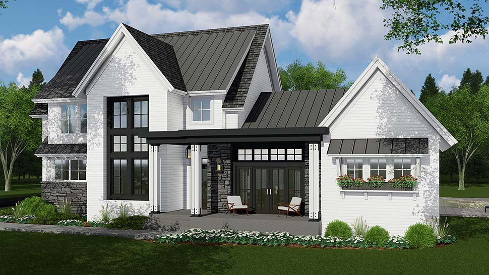 Country, Farmhouse House Plan 42693 with 4 Beds, 4 Baths, 3 Car Garage Picture 3
