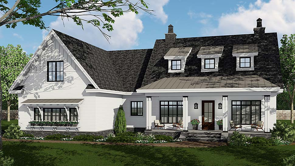 Country, Craftsman, Farmhouse, Traditional House Plan 42695 with 3 Beds, 3 Baths, 2 Car Garage Front Elevation