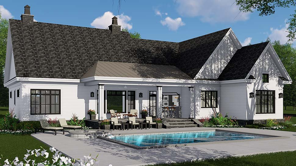 Country, Craftsman, Farmhouse, Traditional House Plan 42695 with 3 Beds, 3 Baths, 2 Car Garage Picture 1