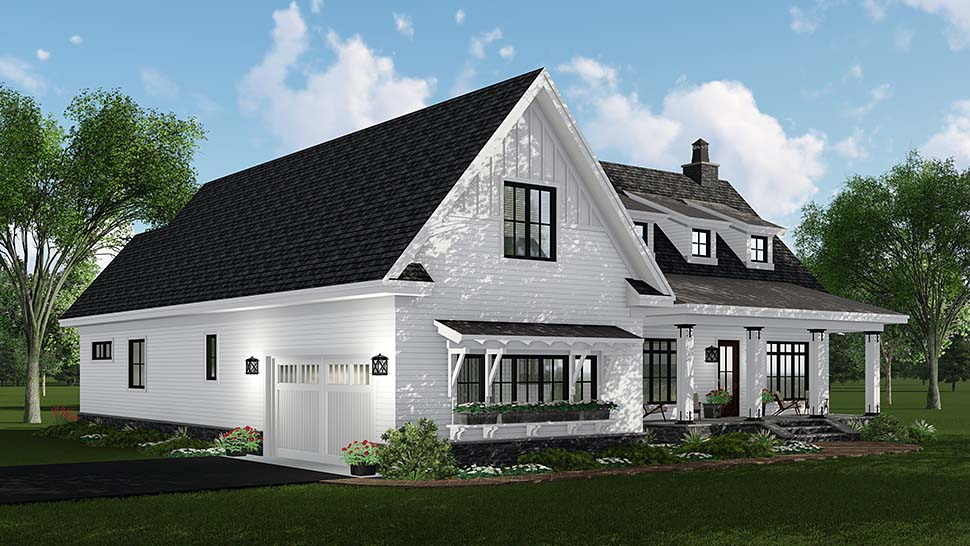 Country, Craftsman, Farmhouse, Traditional House Plan 42695 with 3 Beds, 3 Baths, 2 Car Garage Picture 2