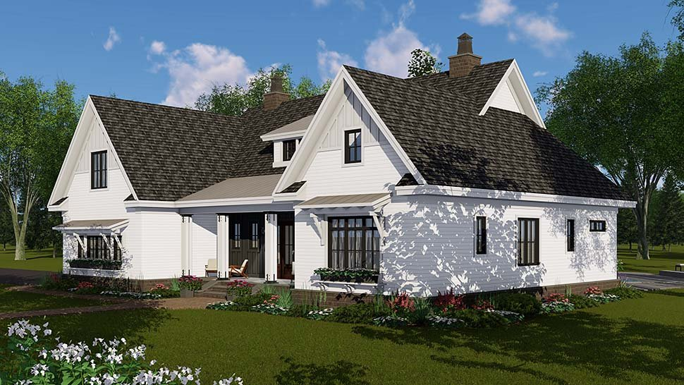 Country, Craftsman, Farmhouse House Plan 42697 with 4 Beds, 4 Baths, 2 Car Garage Picture 1
