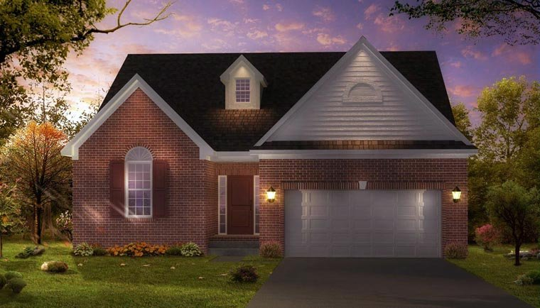 Country, Traditional House Plan 42816 with 3 Beds, 2 Baths, 2 Car Garage Elevation