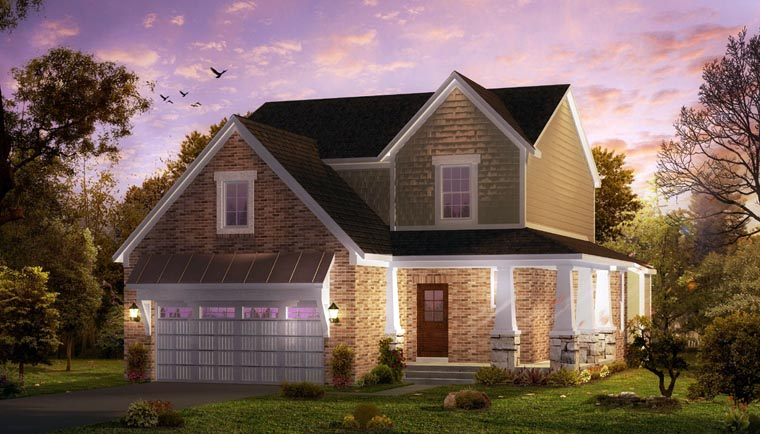 Cottage, Country, Craftsman, Farmhouse, Traditional House Plan 42826 with 3 Beds, 4 Baths, 2 Car Garage Front Elevation