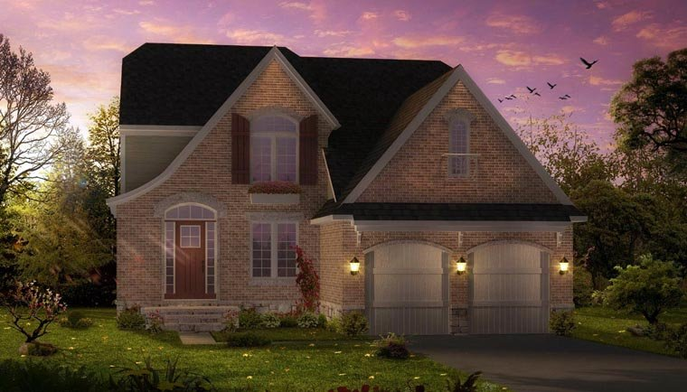Cottage, Country, Craftsman House Plan 42828 with 4 Beds, 3 Baths, 2 Car Garage Elevation