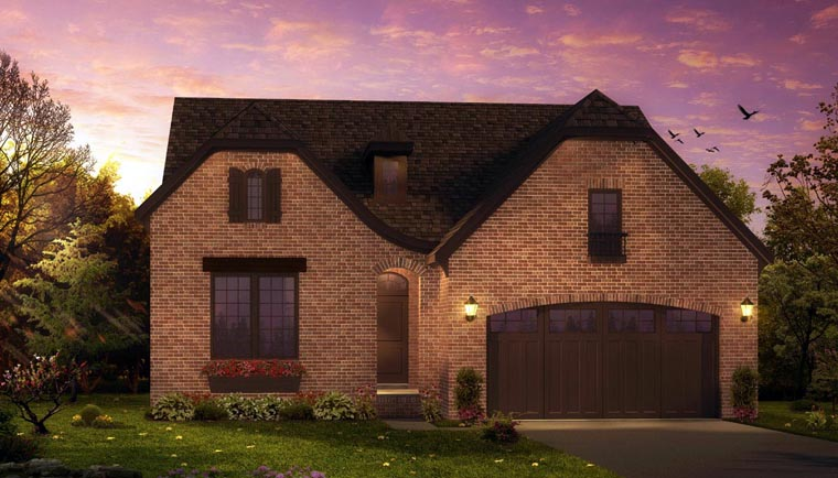 European, Tudor House Plan 42829 with 3 Beds, 3 Baths, 2 Car Garage Elevation