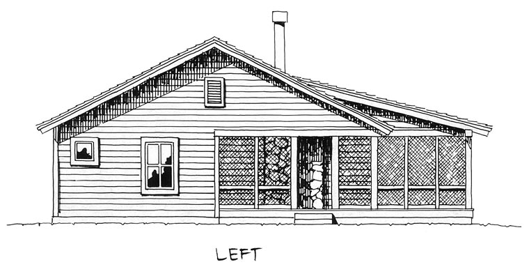 Cabin, Cottage House Plan 43203 with 2 Beds, 2 Baths Picture 3