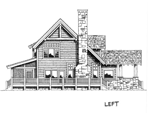 Cabin, Cape Cod, Country House Plan 43206 with 3 Beds, 3 Baths Picture 3