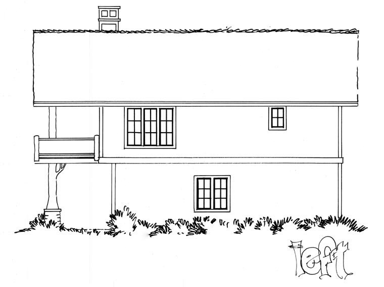 Cabin, Log House Plan 43209 with 1 Beds, 1 Baths, 2 Car Garage Picture 1
