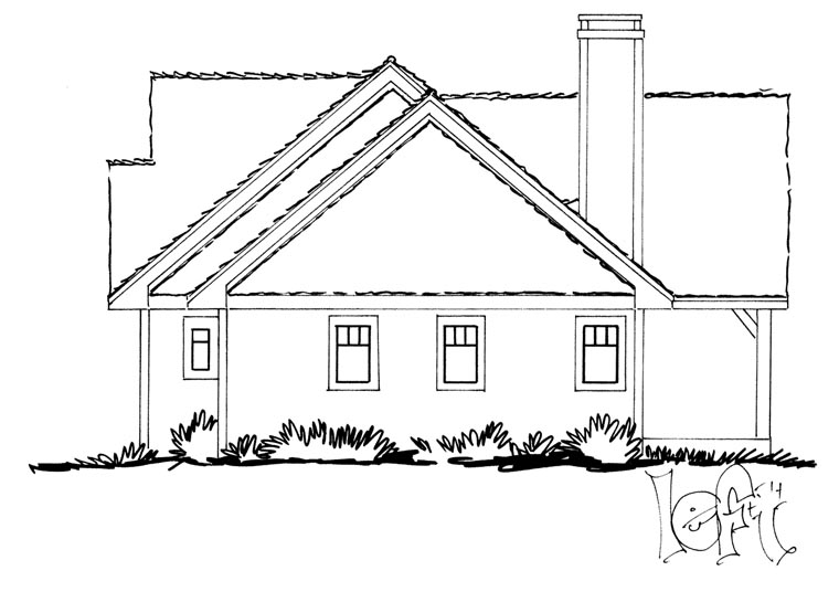 Craftsman, Ranch House Plan 43210 with 3 Beds, 2 Baths Picture 1