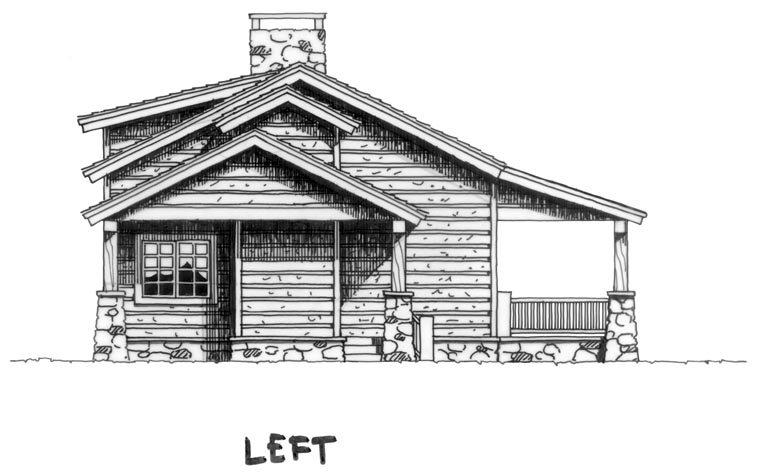 Cabin, Country, Log House Plan 43211 with 2 Beds, 1 Baths, 1 Car Garage Picture 1