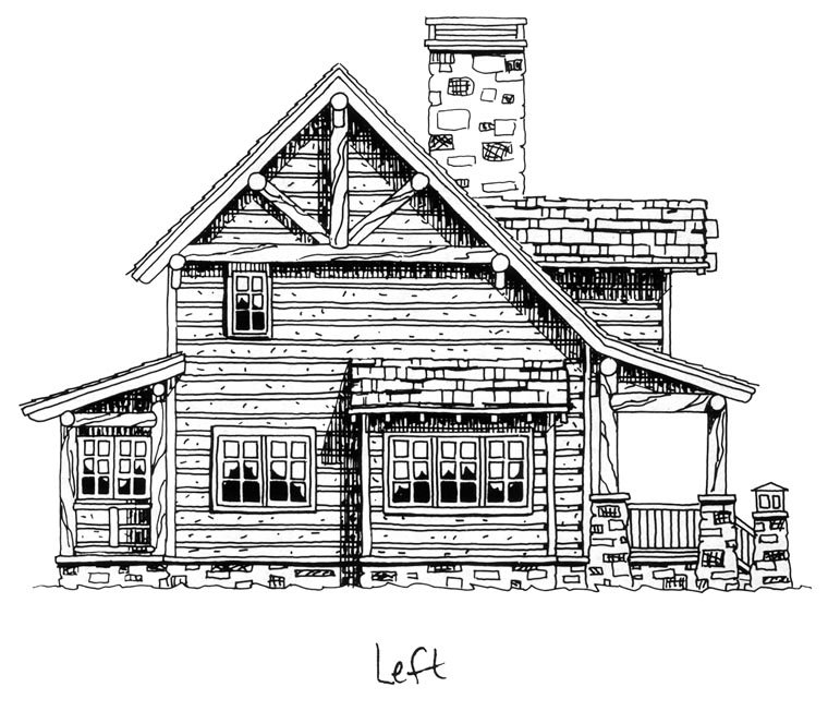 Cabin, Craftsman, Log House Plan 43212 with 2 Beds, 2 Baths Picture 1