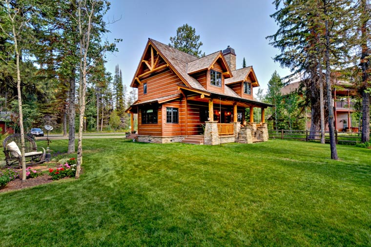 Cabin, Craftsman, Log House Plan 43212 with 2 Beds, 2 Baths Picture 13