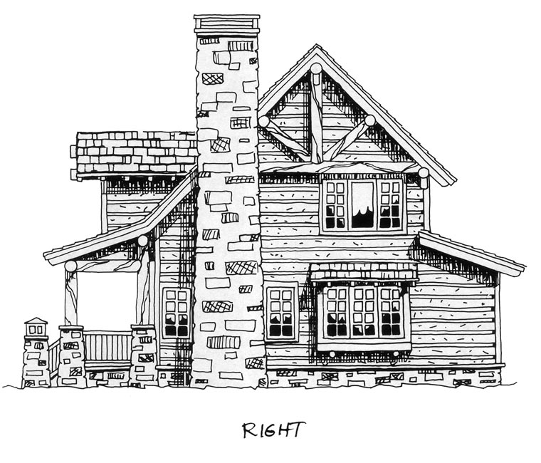 Cabin, Craftsman, Log House Plan 43212 with 2 Beds, 2 Baths Picture 2