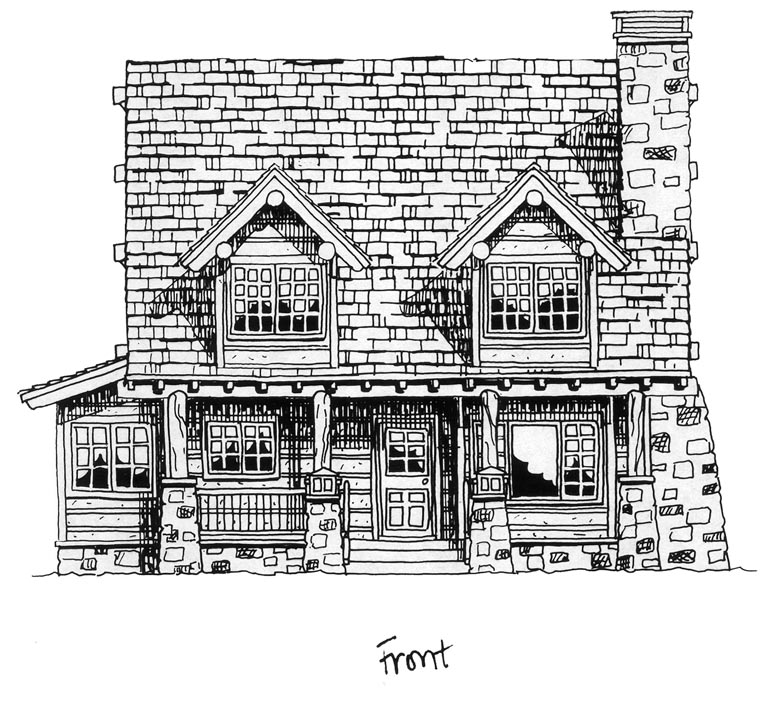 Cabin, Craftsman, Log House Plan 43212 with 2 Beds, 2 Baths Picture 3