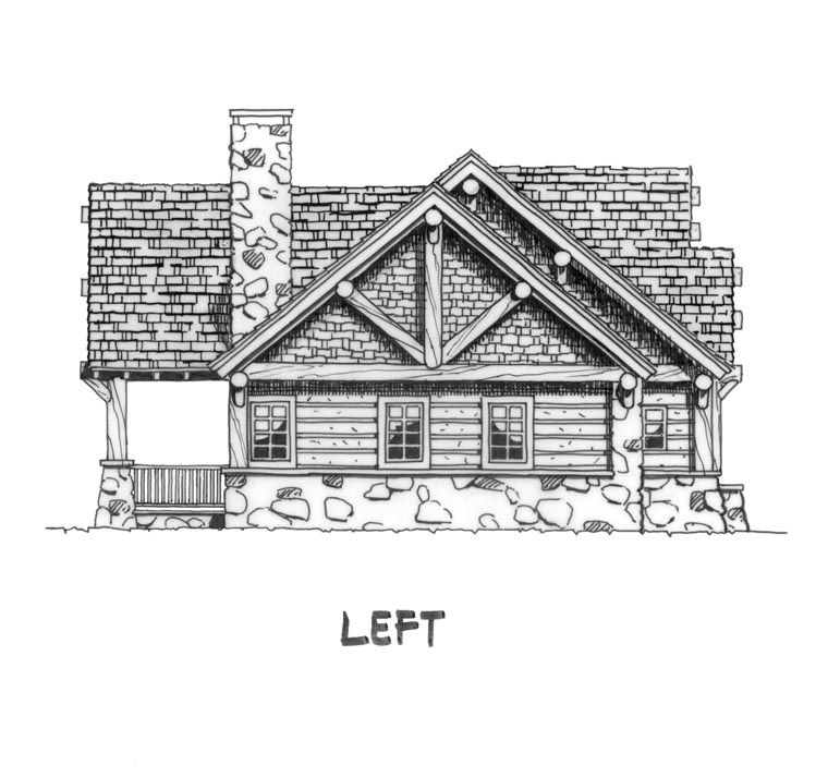 Cabin, Craftsman, Log House Plan 43214 with 3 Beds, 2 Baths Picture 1