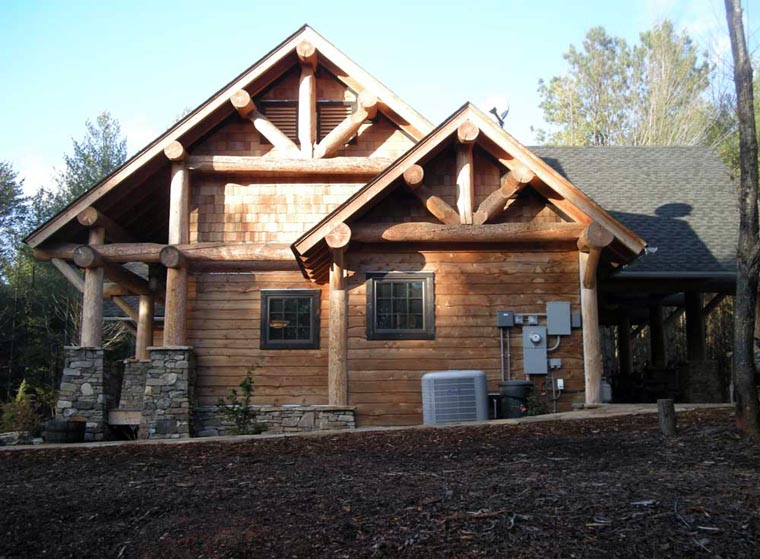 Cabin, Craftsman, Log House Plan 43214 with 3 Beds, 2 Baths Picture 15