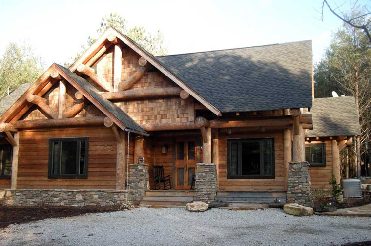 Cabin, Craftsman, Log House Plan 43214 with 3 Beds, 2 Baths Picture 8