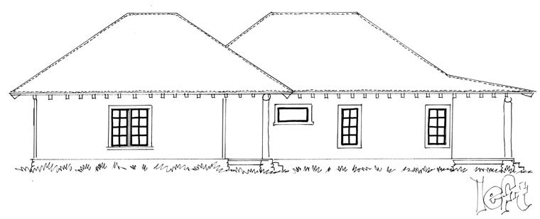 Country, Ranch House Plan 43215 with 1 Beds, 1 Baths, 2 Car Garage Picture 1