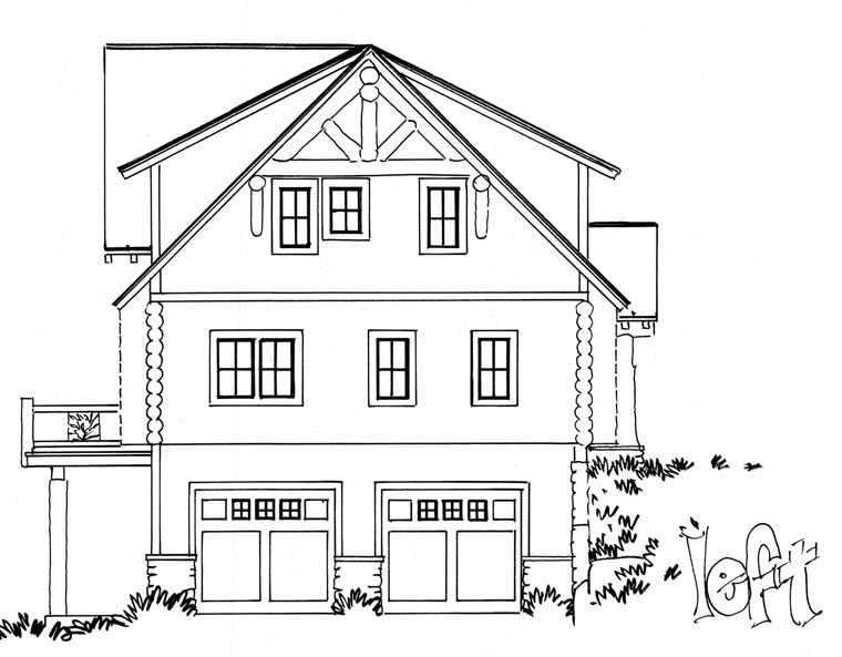 Cabin, Log House Plan 43217 with 3 Beds, 3 Baths, 2 Car Garage Picture 1