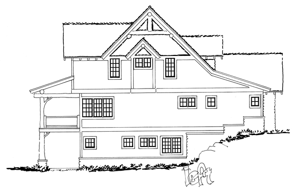 Bungalow, Country, Craftsman House Plan 43222 with 5 Beds, 4 Baths, 1 Car Garage Picture 2