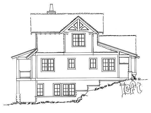 Bungalow, Cottage, Country, Craftsman House Plan 43223 with 5 Beds, 4 Baths, 2 Car Garage Picture 1